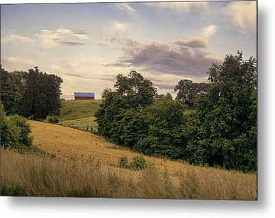 Dusk On The Farm Metal Print by Heather Applegate