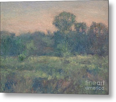 Dusk On The Meadow Metal Print by Gregory Arnett