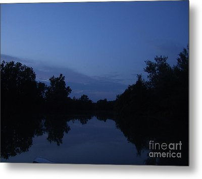 Dusk On The River Metal Print