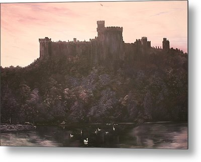 Metal Print featuring the painting Dusk Over Windsor Castle by Jean Walker