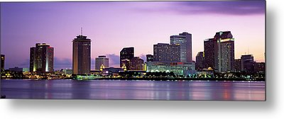 Dusk Skyline, New Orleans, Louisiana Metal Print by Panoramic Images