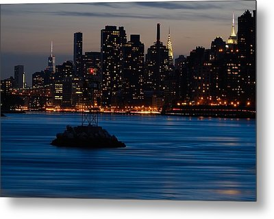 Dusky Nyc Skyline Metal Print
