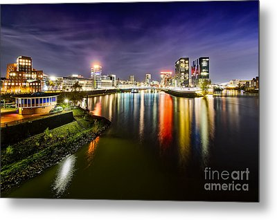 Dusseldorf Media Harbor Skyline Metal Print