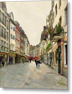 Dusseldorf Old Town Street 2 Metal Print by Yury Malkov
