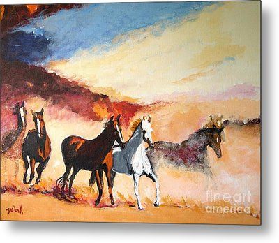 Metal Print featuring the painting Dust In The Wind by Judy Kay