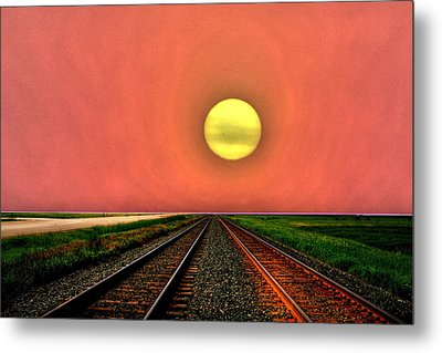 Dustbowl Sunset Metal Print by Larry Trupp