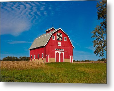Dutch Colonial Quilt Barn Metal Print