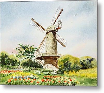 Dutch Windmill In San Francisco  Metal Print by Irina Sztukowski