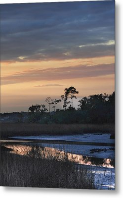 Dutton Island At Dusk Metal Print by Phyllis Peterson