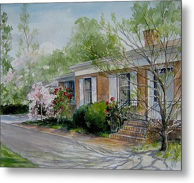 Metal Print featuring the painting Duvall Home Portrait by Gloria Turner