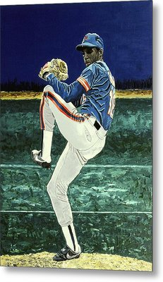 Dwight Gooden - New York Mets Metal Print by Mike Rabe