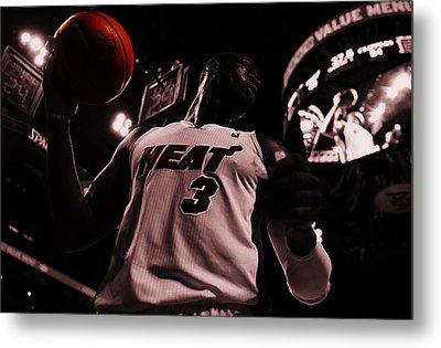 Dwyane Wade Ready To Go Metal Print by Brian Reaves