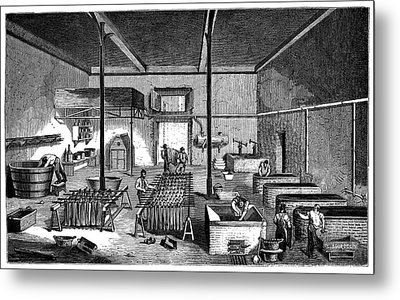 Dye Factory Metal Print by Science Photo Library