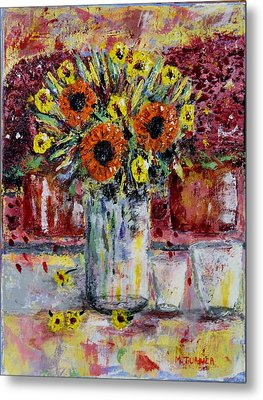 Dying Flowers Metal Print