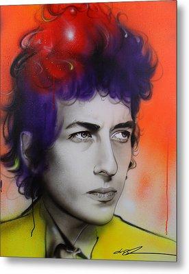 Bob Dylan - ' Dylan ' Metal Print by Christian Chapman Art
