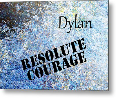 Dylan - Resolute Courage Metal Print by Christopher Gaston