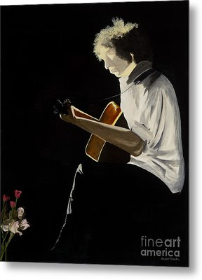 Metal Print featuring the painting Dylan by Stuart Engel