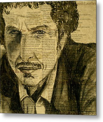 Dylan The Poet Metal Print