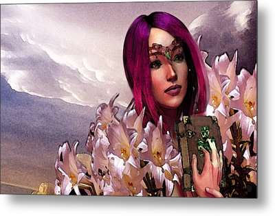 Dymphna Lily Of Fire Metal Print