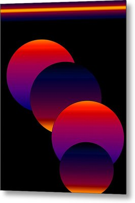 Metal Print featuring the digital art Dynamic Circles by Gayle Price Thomas