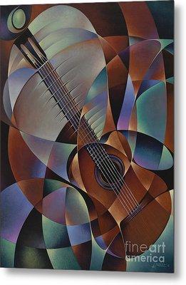 Dynamic Guitar Metal Print by Ricardo Chavez-Mendez