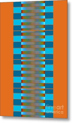 Metal Print featuring the digital art Dynamics Fete 1b by Darla Wood