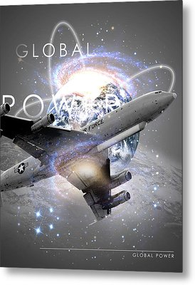 E-8 Joint Stars --- Global Power Metal Print