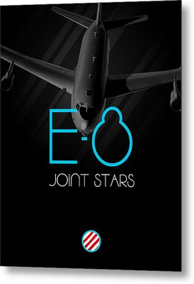 E-8 Joint Stars Blackout Metal Print