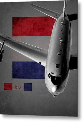E-8 Joint Stars Flag Spirit Metal Print