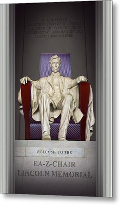 Ea-z-chair Lincoln Memorial 2 Metal Print by Mike McGlothlen