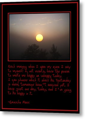 Each Morning Metal Print by Bill Cannon
