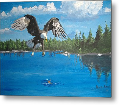 Eagle Attack Metal Print by Norm Starks