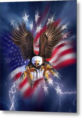 Eagle Burst Metal Print by Jerry LoFaro