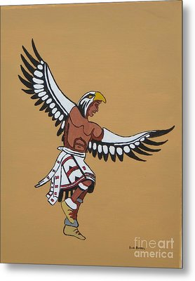 Eagle Dancer Metal Print by Bud  Barnes