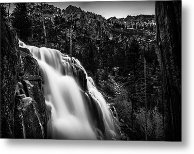 Eagle Falls Black And White Metal Print by Scott McGuire