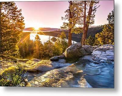 Eagle Falls Emerald Bay Lake Tahoe Sunrise First Light Metal Print by Scott McGuire