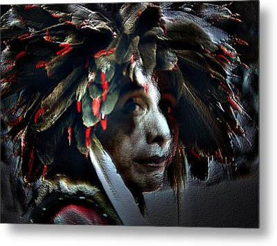 Eagle Feather Metal Print by Irma BACKELANT GALLERIES