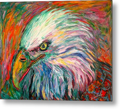 Eagle Fire Metal Print