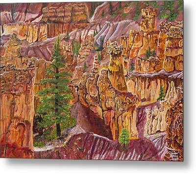 Eagle Flying In Bryce Canyon Metal Print by Ornon Shaw