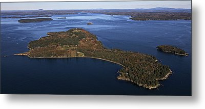Eagle Island, Penobscot Bay Metal Print by Dave Cleaveland