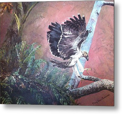 Metal Print featuring the painting Eagle Light by Mary Ellen Anderson