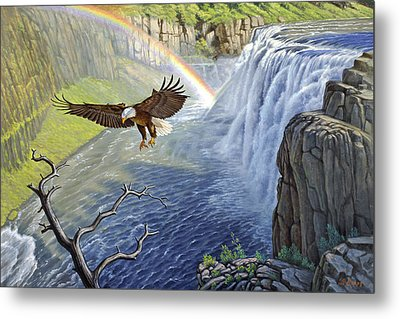 Eagle-mesa Falls Metal Print by Paul Krapf