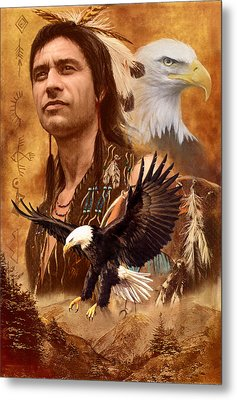 Eagle Montage Metal Print by Garry Walton