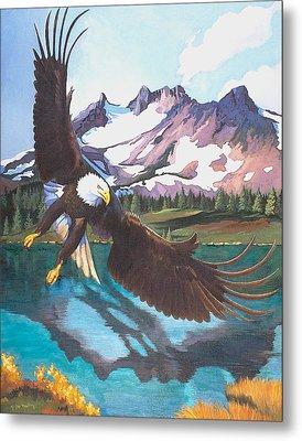 Eagle Oregon Lake Metal Print