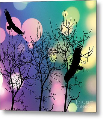 Metal Print featuring the digital art Eagle Rebirth Light by Kim Prowse