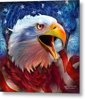 Eagle Red White Blue 2 Metal Print by Carol Cavalaris
