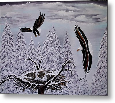 Eagle Family Majestry Metal Print