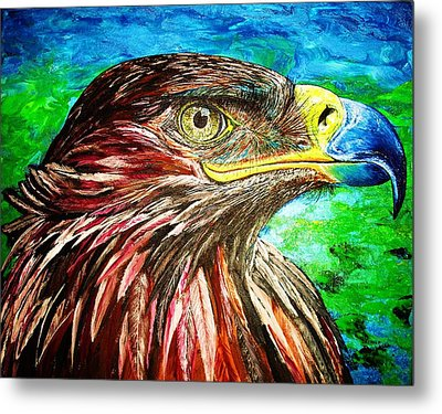 Metal Print featuring the painting Eagle by Viktor Lazarev