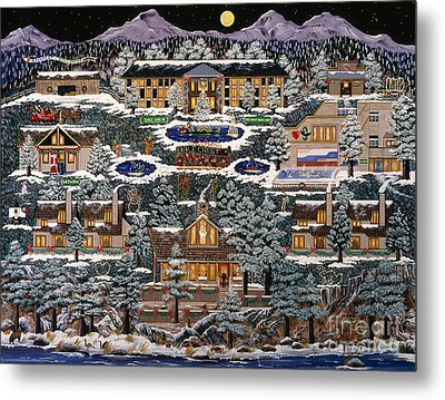 Metal Print featuring the painting Eaglecrest Resort by Jennifer Lake