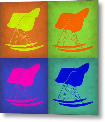Eames Rocking Chair Pop Art 1 Metal Print by Naxart Studio